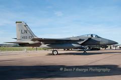 F15C-LN-493FS-84-0027-12-9-09-RAF-LEUCHARS-AIR-SHOW-09-(1) (Benn P George Photography) Tags: newhampshire airshow tornado bd ids ln kc135r f15c 4365 b52h fg1 f4k rafleuchars 12909 xt864 840014 840027 493fs 623547 610011 bennpgeorgephotography