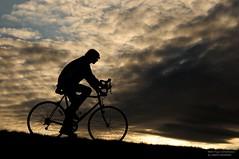 This Is The Way Home (disgruntledbaker1) Tags: blue sky bike silhouette backlight clouds nikon d90 disgruntledbaker