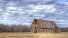 H to the D to the R Barn (mazzmn) Tags: blue trees sky field clouds barn rural vintage landscape outdoors rust doors farm meadow hdr hss hcs farmyard