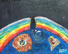 Broken Rainbow (Dawn Richerson) Tags: atlanta art broken painting georgia hope us rainbow artist transformation humanity evolution human soul emergence unfinished intuitive inspirational spiritual soulful consciousness inspiring hopeful activation soulart dawnricherson