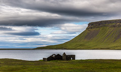 Abandoned in the Wilderness            (Explored) (E.K.111) Tags: ocean sunset house iceland outdoor wilderness