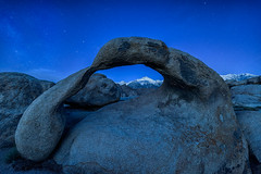 Ancient-Arch (Maddog Murph) Tags: blue sky foothills mountain rock pine night sunrise easter landscape photography dawn star twilight arch mt alabama astro sierra hills formation mount mammoth whitney porthole lone portal archway sierras independence mobius