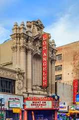 Los Angeles Theater, Downtown Los Angeles, HDR, 27 January 2016 (SDSk8r) Tags: california us losangeles unitedstates countries dtla hdr losangelestheater downtownlosangeles losangelescounty americanstates californiacounties typeofimage losangelescountycities areasinlosangeles theatersindowntownlosangeles