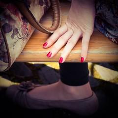 Hand und Fu ... auch in Farbe (thomas.aus.kempen) Tags: woman hand olympus frau oberhausen burg fus vorndern