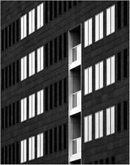 Rhythm in white (jefvandenhoute) Tags: blackandwhite monochrome belgium belgique sony belgi monochromatic harmony antwerp modernarchitecture antwerpen rhythm rx10 silverefex photoshopcs6