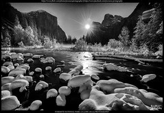 Full moon rising (Praveen's PRotography) Tags: park christmas sunset moon white snow black river landscape december view merced el full national moonrise valley yosemite capitan 2015 nikond600
