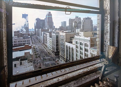Woodward avenue seen from the Broderick Tower on Marathon day, Detroit, USA, 2005 (CORMA) Tags: brussels art europe belgique bruxelles exhibition exposition artcontemporain 2016 tourtaxis romainmeffre ivesmarchand