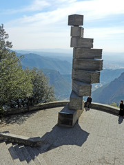 Staircase (Antropoturista) Tags: shadow people monument spain montserrat catalunya turists