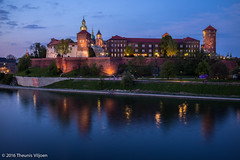 Wawel at Dusk - III (Theunis Viljoen LRPS) Tags: reflection poland krakow wawelcastle vistulariver