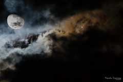 Lua Sinistra (nandoespinosa) Tags: sky moon night clouds cu lua noite nvens luamooncuskynoitenightnvensclouds