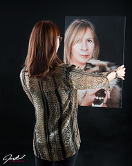 Redhead Looking at Herself as a Blond (jmmtampa) Tags: studio model redhead blonde strobes ar2 neautiful