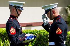 US Marines honor the Flag (Rami Khanna-Prade) Tags: usmc hawaii respect honor pearlharbor honolulu hnl semperfi unitedstatesmarines december71941 phnl waimomi jbphh puuloa jointbasepearlharborhickam 7thdecember1041 pearlharbor74 watersofpearl
