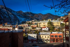 The view from our room in Bisbee, Arizona.