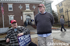 Trumping Up Support (Greenpeace USA 2015) Tags: usa democracy newhampshire exeter vote republican democrat keepitintheground