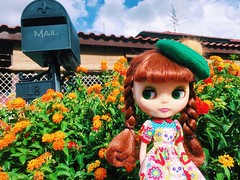 🔥☀️🔥 Sending some warmth and kisses to my friends in the coldest places 😎✨🌻🌺🌳 #love #plasticfashion #blythe #doll #ブライス #人形 #hothothot #sunnyday