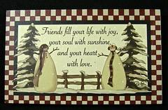 friends fill your life with joy (muffett68 ) Tags: plaque snowmen
