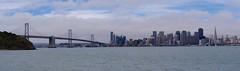 San Francisco and the Bay Bridge (Travis Estell) Tags: sanfrancisco california panorama treasureisland baybridge bayarea sanfranciscobay sanfrancisco–oaklandbaybridge