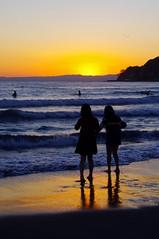 Watching sunset (runslikethewind83) Tags: sunset sea sky people color colors beautiful beauty japan glow pentax    2016