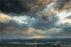 5D3_7664 (Dallas Maher) Tags: city sky color colour nature night clouds canon lights twilight scenery mt mark iii hills mount kangaroo 5d canberra lightning ainslie