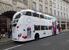 GAL LT282 - LTZ1282 - OSR - REGENT STREET - SUN 14TH FEB 2016 (Bexleybus) Tags: street new sky bus london ahead all go over route add boris routemaster q regent avengers tfl 453 goahead wrightbus nbfl borismaster lt282 ltz1282