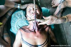 SIPATITI (As Worlds Divide) Tags: tattoo titi padang ceremonialdance kebudayaan sumbar sumatrabarat mentawai facialtattoo westsumatra sikerei dinaspendidikan culturaleducationprogram