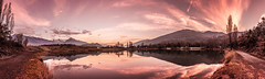 Extra panorama (Jeton Bajrami) Tags: panorama sun art reflections landscape perfect long sony colourful alpha a77 2015 lakescape alpha77