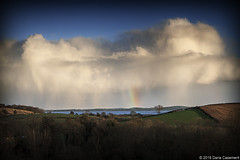 Happy cloud (dareangel_2000) Tags: weather landscape countryside twilight dusk january onthewayhome northernireland ni phenomenon 2016 codown dariacasement