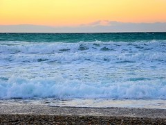 Endless sea. (Christos Andreou) Tags: landscape photography mediterranean waves wintersunset wind relaxing corinth beaches coastline melancholy sealandscape seasunset hdrphotos wildsea wavessunset kalamiabeach samsunggalaxykzoomsamples opticalzoomphotos