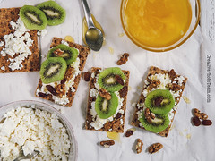 Healthy snack with cheese cottage, kiwi and honey (CreativePhotoTeam.com) Tags: food green yellow fruit cheese breakfast bread table dessert spread juicy healthy natural cut toast grain cottage cereal hard walnut cream tasty bowl sandwich fresh rye crisp health honey slice snack vegetarian tropic cracker organic sliced nut diet piece kiwi fitness freshness ripe nutrition dieting ingredient vitamin healthful crispbread