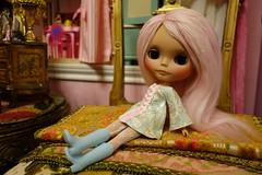 Athena... (Primrose Princess) Tags: pink mod kawaii blythe chic takara dollhouse tapestries helloblythe customblythedoll pinkalpacareroot dollydreamland gildedfrenchchair