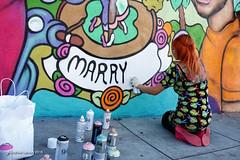 Deb Castro Mural WIP (WelcomeBackOtter) Tags: streetart mural deb sanfranciscostreetart castrodistrict samesexmarriage kasa loveislove kasaindianeatery castroart joshualacayophotography dayofthedeb gaymarriagemural