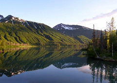 Summer's Evening at Crescent Lake (LakeClarkNPS) Tags: lake mountains reflection alaska crescentlake chigmitmountains findyourpark