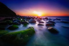 Infinite rocks (ALFONSO1979 ) Tags: longexposure travel sunset seascape colors sunrise landscape rocks paisaje