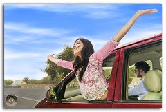 Beautiful Indian young girl expressing freedom with her arms outstretched! (KS Photography!) Tags: travel blue summer vacation portrait sky people copyright window nature girl beautiful smiling lady female youth clouds outside outdoors happy person freedom mirror women automobile colorful hand adult natural wind expression background space indian transport stock dream young lifestyle happiness bluesky roadtrip adventure teen attractive editorial vehicle leisure youthful unusual concept charming cheerful gesture waving relaxed ethnic success isolated confident newdelhi outstretched caucasian flyaway positivity