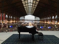Gare du Nord (mccannmitchell) Tags: paris france eurostar piano trainstation garedunord glassroof grandpiano