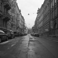 Aschebergsgatan (rotabaga) Tags: blackandwhite bw göteborg diy lomo sweden gothenburg sverige lubitel166 svartvitt r09 bwfp