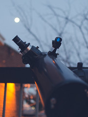 moon gazin for the first time in a long time (@mikescic) Tags: moon night star nikon time telescope gazing celestron d7000