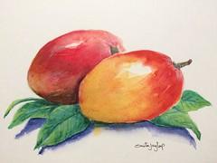 47/366~ #watercolors #watercolor #painting# #colors #art #winsorandnewton #sketch #dailypainting #fruit #vegetables #drawing #366 #2016 (j.smita7) Tags: art colors vegetables fruit watercolor painting sketch drawing watercolors 2016 366 winsorandnewton dailypainting