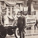 NE Cheboygan MI RARE RPPC c.1908 Outside J. R. Johnson Photo Studio with Parade Car owned by Joseph Bourrie General Contractor and Builder Photographer J. R. JOHNSON3