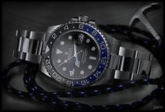 Rolex GMT Master II 116710 BLNR / Bracelet (Seb.04) Tags: blue black macro canon steel watch master ii bracelet anchor batman 100 mm rolex gmt 6d 116710 blnr