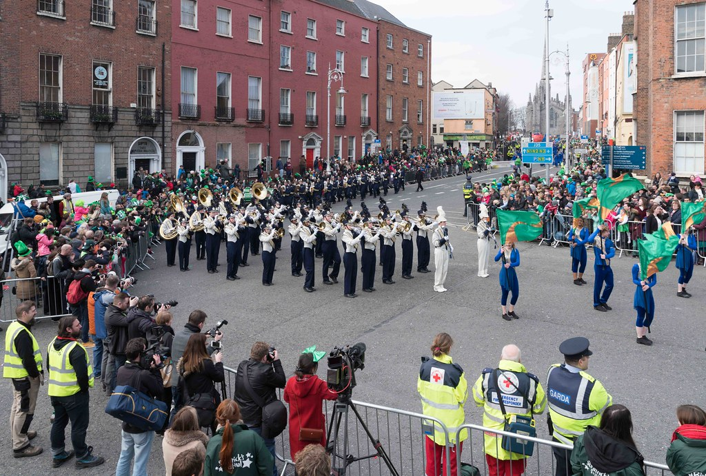 Cathedral High School 'Pride of the Irish' Marching Band [St. Patrick's Day Parade 2016]-112653