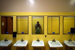 Self-Portrait, Treasure Island Airport Terminal Building (jjldickinson) Tags: selfportrait building architecture bathroom mirror treasureisland terminal artdeco metaphotography jacobdickinson nikond3300 promaster52mmdigitalhdprotectionfilter nikon1855mmf3556gvriiafsdxnikkor 103d3300