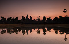Reflections Of Angkor (Marshall Ward) Tags: trees sunrise reflections landscape temple dawn asia cambodia southeastasia angkorwat temples siemreap nikond800 afszoomnikkor2470mmf28ged marshallward