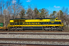 NS 1069 on 26R, Berea, roster 2016-04-12 (redheadedrobbie1) Tags: railroad heritage diesel ns locomotive railfan freight norfolksouthern virginian roster berea emd rostershot sd70ace heritagelocomotive heritageunit