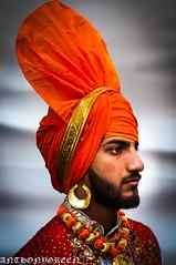 Sikh2016(NYC) (bigbuddy1988) Tags: city nyc portrait people orange usa newyork man color art face costume nikon manhattan indian culture d300 nikond300