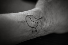 You Make Time (Kenny Dong) Tags: life blackandwhite bw clock ink canon blackwhite hand time drawing watch dream free draw struggle
