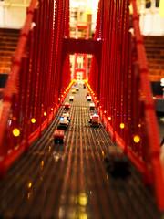 Across The Lego Bridge (BrickCurve) Tags: bridge light red cars 50mm iso800 lego olympus 16 omd f63 1250mm em5 f3563