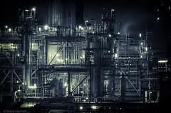 Pipes (David Hannah) Tags: industry night lights scotland steam oil grangemouth falkirk petrochemical