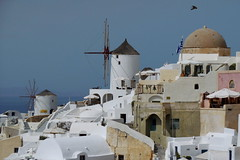 The two mills (Steenjep) Tags: sea house holiday home view santorini greece caldera oia ferie grkenland