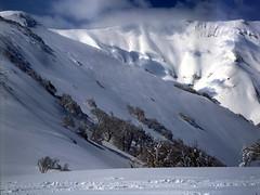 Mt.Nishishokanbetsu (threepinner) Tags: ski mamiya japan spring hokkaido skiing 55mm   positive f28 hokkaidou iso50 northernjapan sekor mashike m645   mountainsnaps mtshokanbetsu